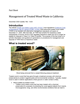 Treated Wood Waste Generators