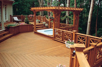 Preserved Wood Deck